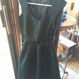 Black Label Green Dress Misses Size 6